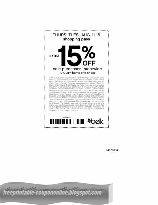 picture about Belk Printable Coupons named Belk coupon code
