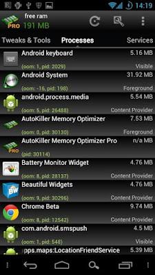 زيادة حجم الرام للاندرويد بدون روت, تطبيق AutoKiller Memory Optimizer, زيادة مساحة الرام هاتف أندرويد عن طريق الذاكرة الخارجية