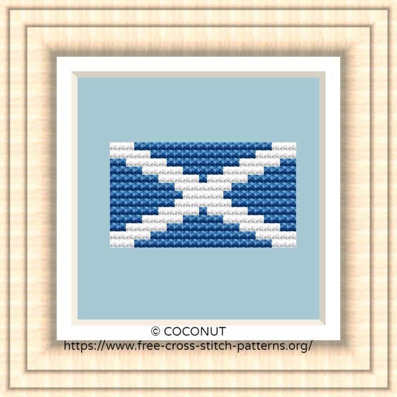 NATIONAL FLAG OF SCOTLAND CROSS STITCH CHART