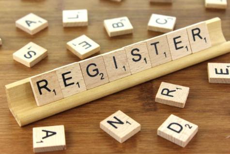 Gambar tulisan register