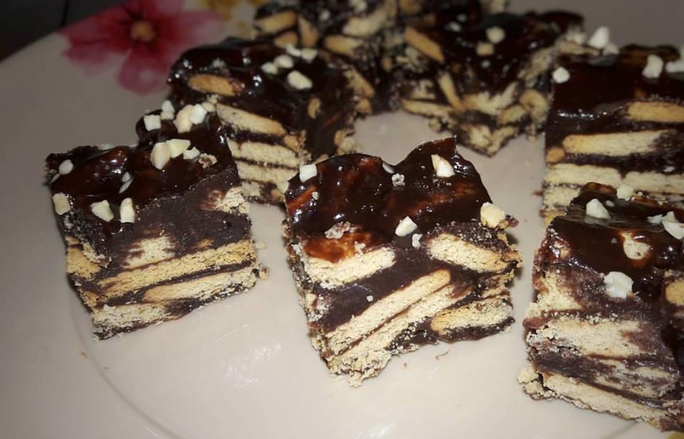 kakakecik adish shida resepi kek biskut marie salut milo aka kek batik Resepi Kek Batik Biskut Marie Chef Wan Enak dan Mudah