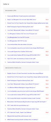 cara memasang menu daftar isi di blogspot