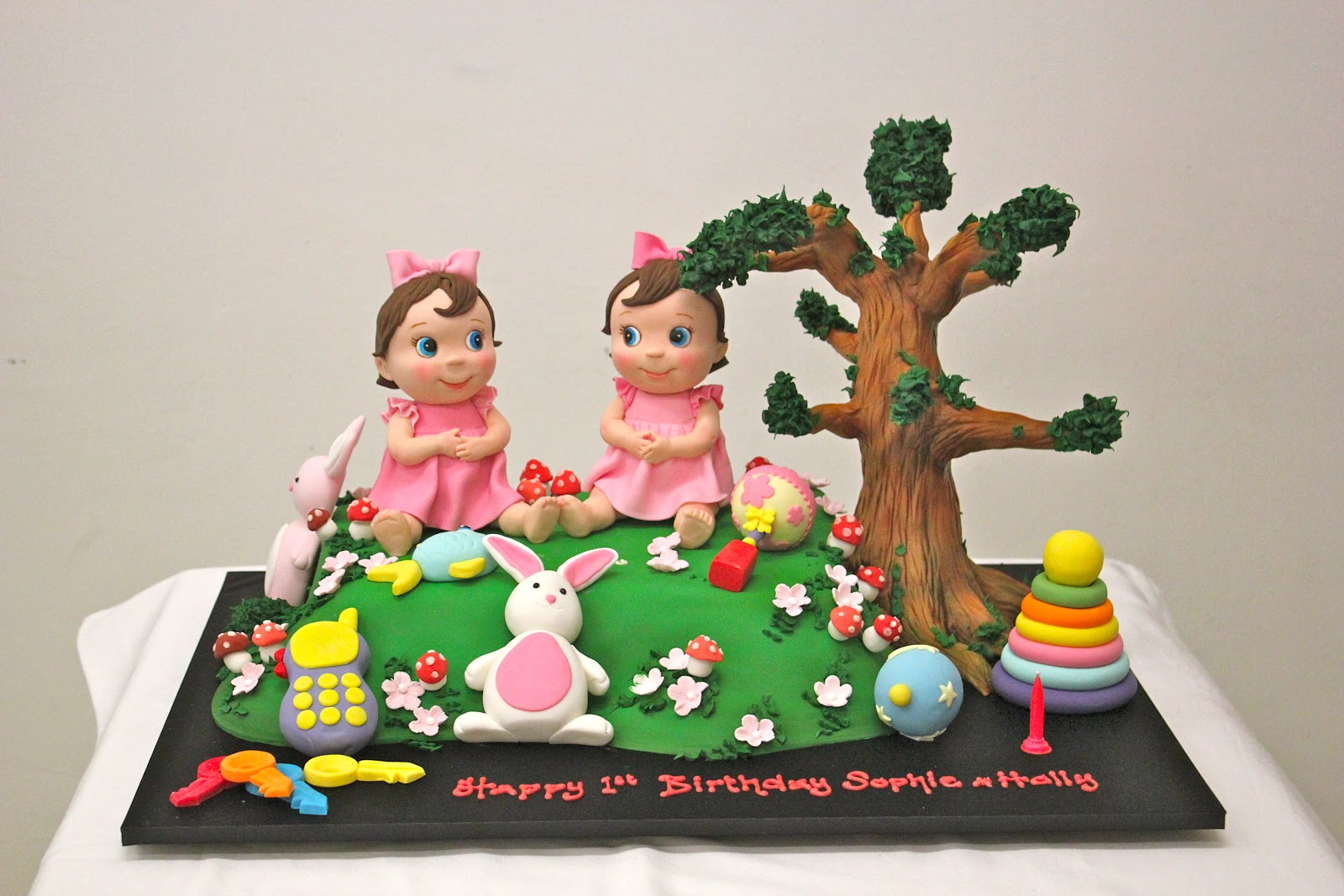Twins Picnic In The Park Birthday Cake