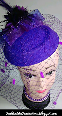 Purple fascinator hats for sale in Kenya