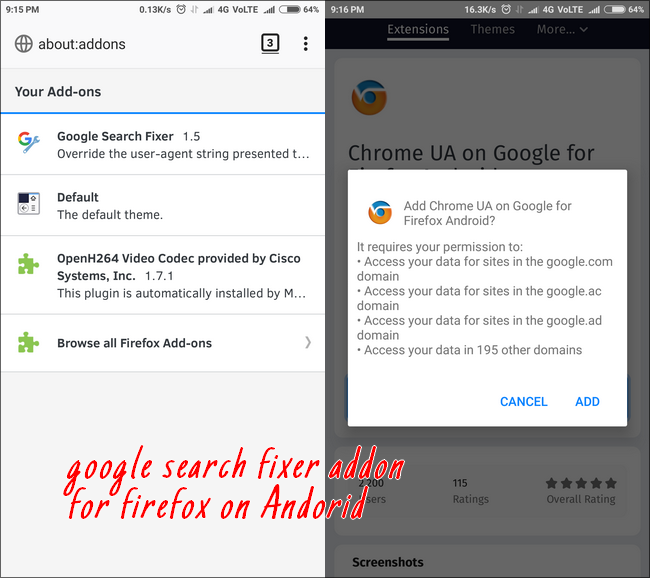 google-search-fixer-on-firefox-on-android