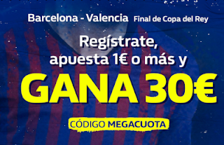 william hill MEGACUOTA 30€ Barcelona gana Valencia