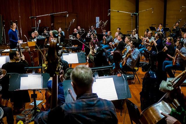 Pixar Bao scoring session in the studio
