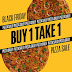 BUY 1 TAKE 1 Pizza Sale with Yellow Cab's Black Friday Deal