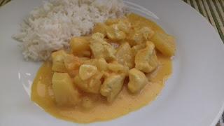 536° Receta: Pollo Con Curry De Piña Y Coco