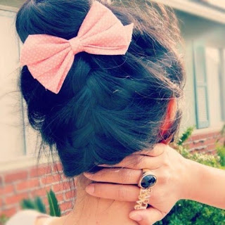 cute updo with hairbow