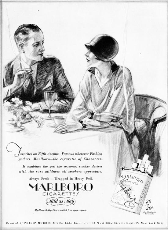 Marlboro advertising 1927 - B