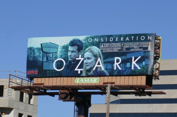 Ozark S2 SAG Globes nominee billboard