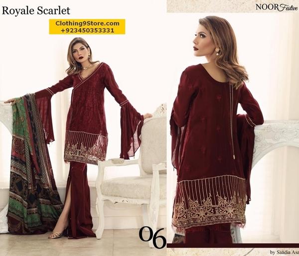 Noor Latest Stylish Dresses for Eid-ul-Adha 2017-18