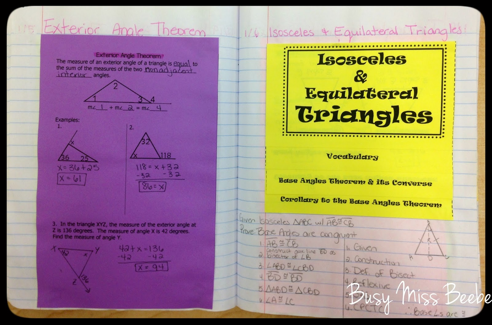 Geometry Help Isosceles And Equilateral Triangles