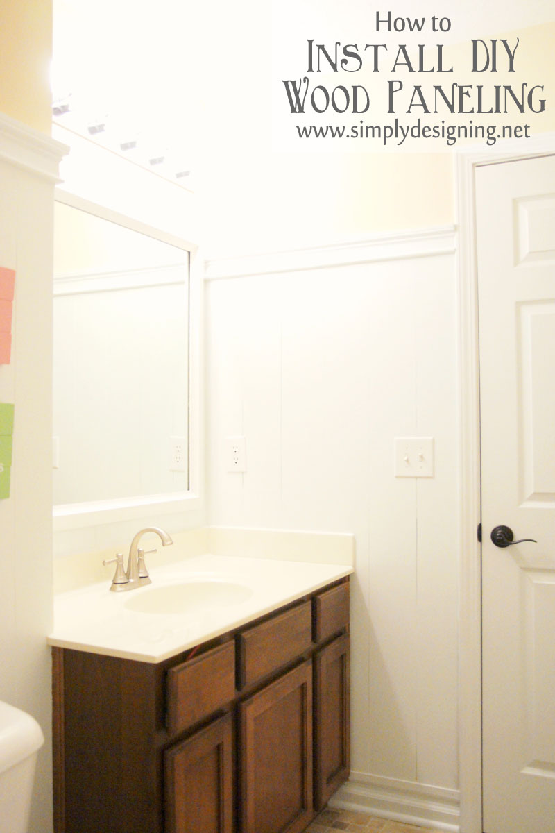 How To Install DIY Wood Paneling | A Tutorial How To Build And Install Your  Own