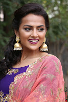Actress Shraddha Srinath in Purple Chania Choli Cute Pics ~  Exclusive 13.jpg