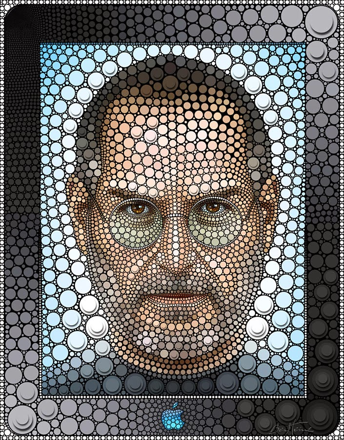 10-Steve-Jobs-Ben-Heine-Painting-&-Sculpture-Digital-Circlism-Portraits-www-designstack-co