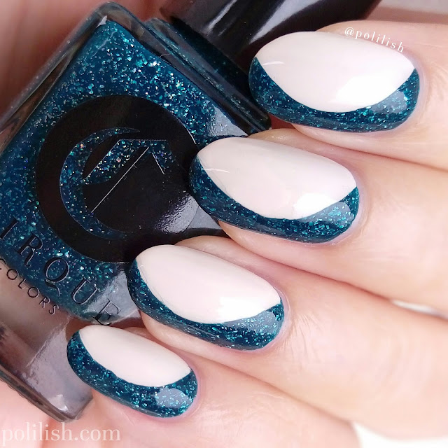 Sideways French manicure with Cirque Colors Dioptase | polilish