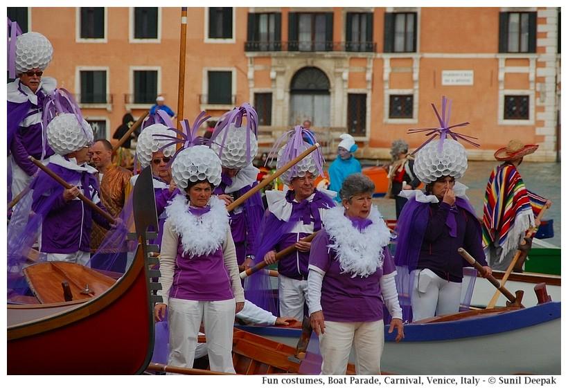 Fun costumes, Boat Parade, Carnival, Venice, Italy - © Sunil Deepak