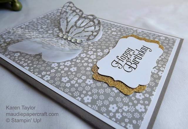 Stampin' Up! Butterflies thinlits neutrals card