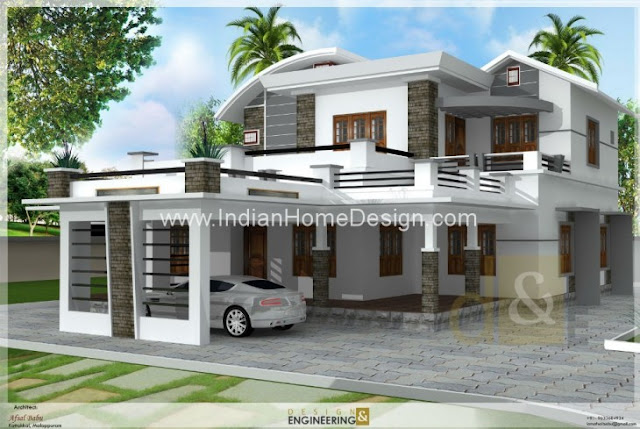 Small kerala house designs villas with pla joy studio for Indian home naksha