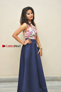 Kannada Actress Mahi Rajput Pos in Floral Printed Blouse at Premam Short Film Preview Press Meet  0025.jpg