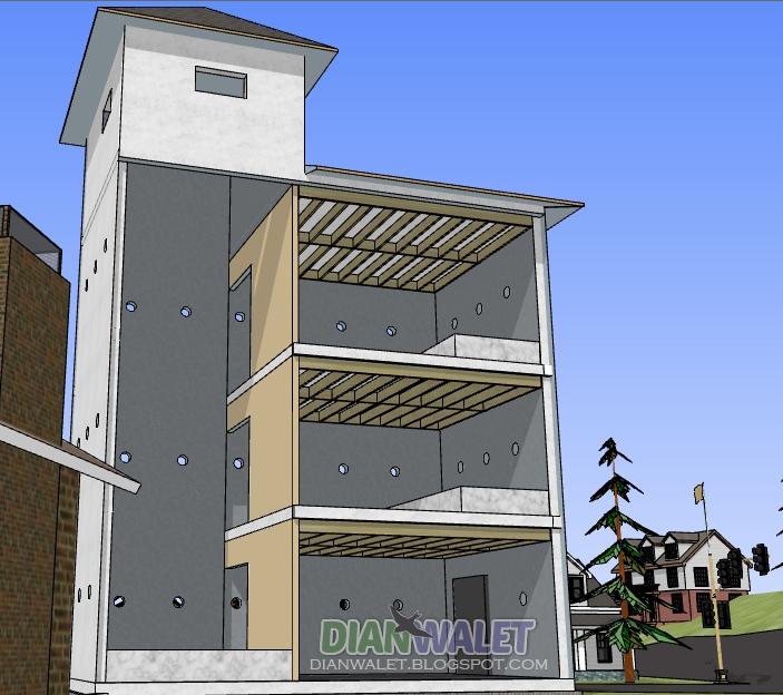 Gambar Contoh Desain Rumah Walet Bentuk Bangunan Gedung