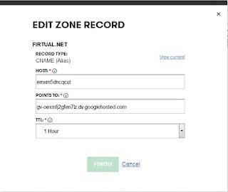 Menambahkan CName Blogger ke Account GoDaddy