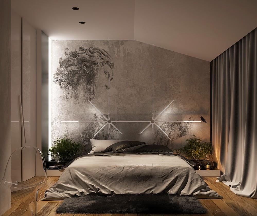 concrete-sketch-art-accent-wall-paint-ideas