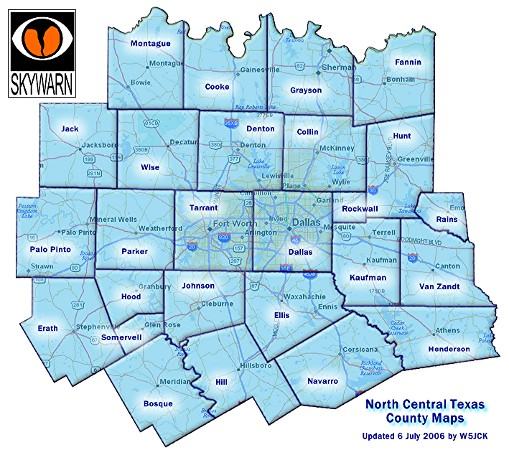 Adventures Of An Emergency Management Volunteer Maps Of North Texas