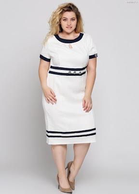 Vestidos blanco y azul