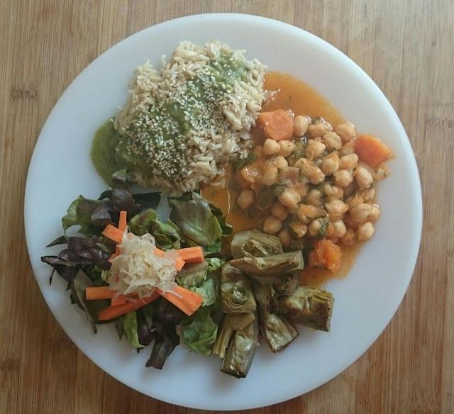 Menú combinado, vegano y equilibrado