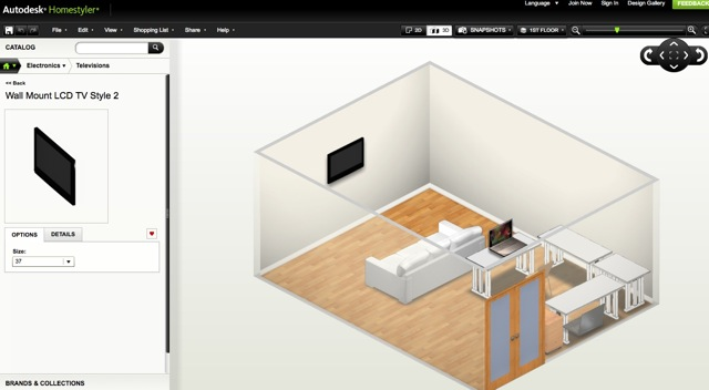 Autodesk homestyler il miglior programma gratuito per for Programma per arredare in 3d