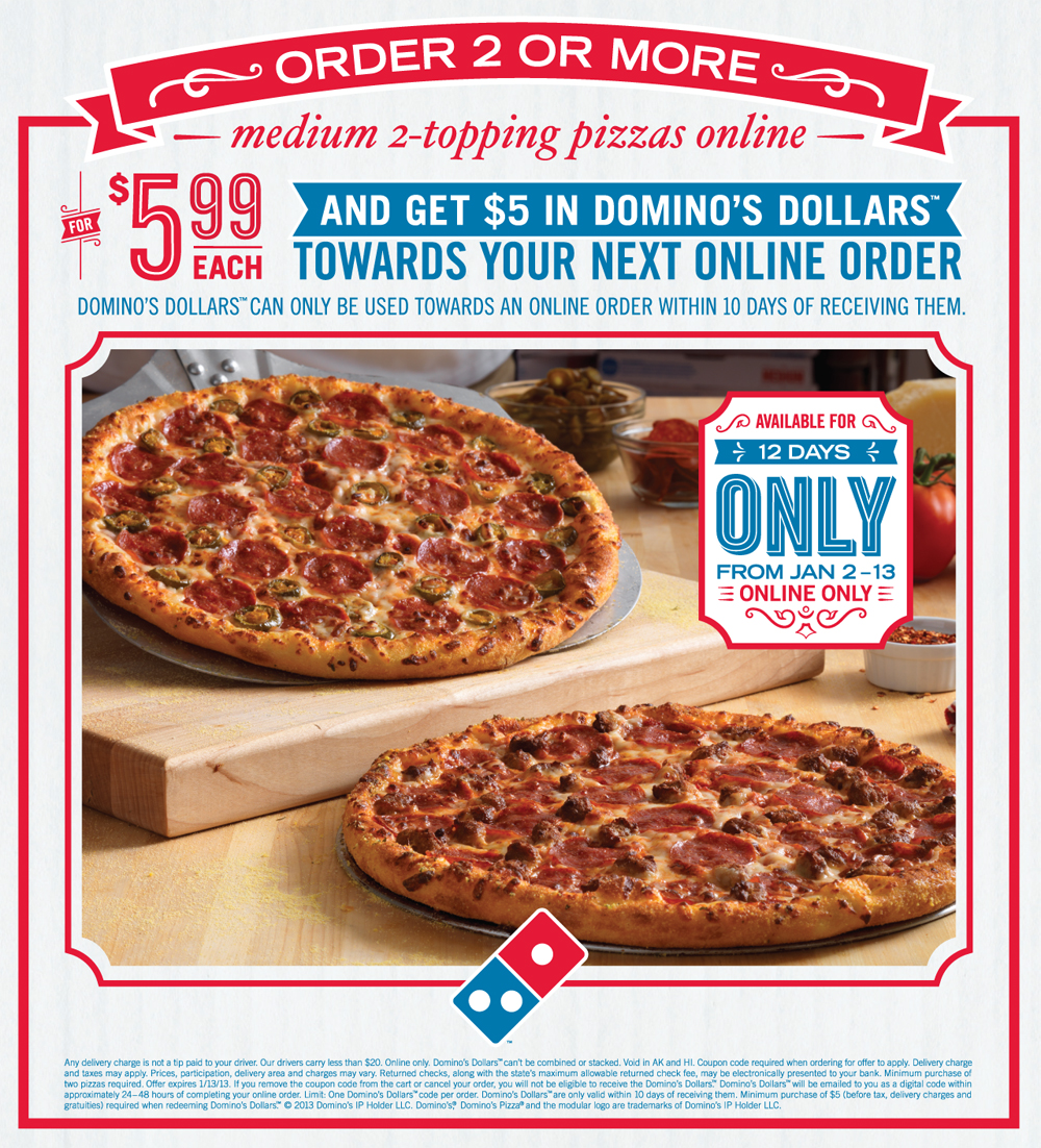 Dominos pizza online order - Domino S Dollars Great Pizza Deals