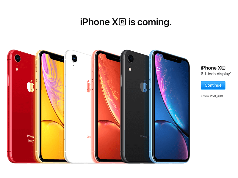 iPhone XR comes in a lot of colors!