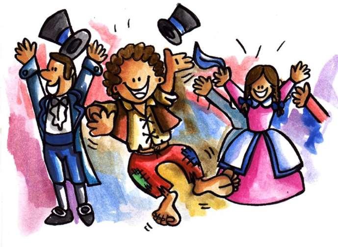 Niños Bailando Festejo Animado