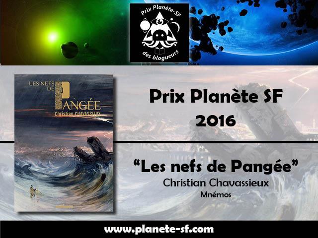 Lauréat du Prix Planète SF 2016