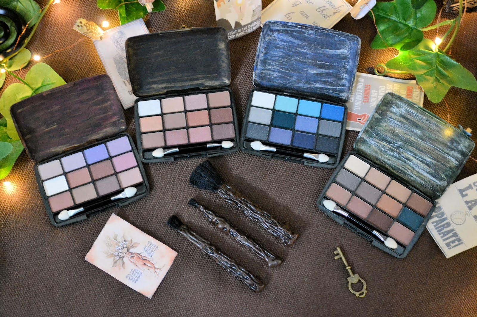 Harry Potter Style Hogwarts House Makeup Palettes