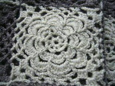 Cuadrado Flor a Crochet