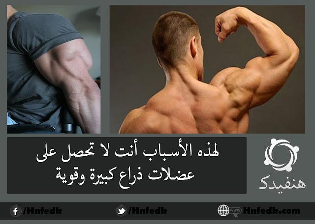 كيف احصل علي عضلات ذراع كبيرة وقوية