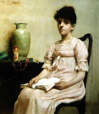 Femme Lisant ou Rêverie, Fanny Caillé