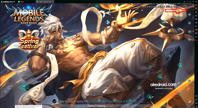 Game Loading > Setting tombol keyboard dan mouse Mobile Legends Memu Emulator PC Laptop
