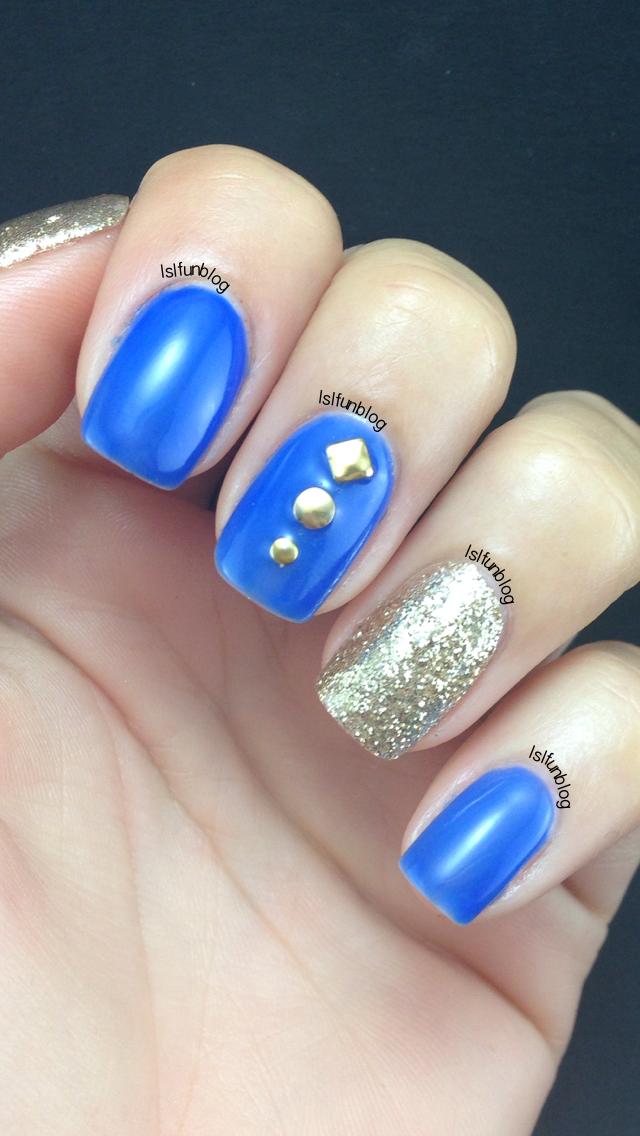 LSL's FUN BLOG: Royal Blue And Gold Nails