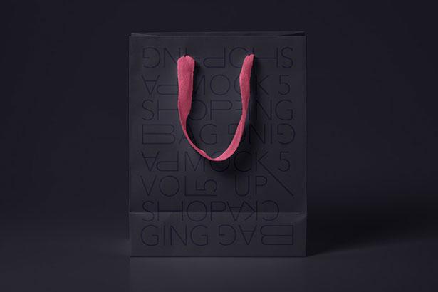 Gratis Mockup Packaging/Kemasan PSD 2018 - Black Psd Shopping Bag Mockup
