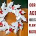 Corona de Navidad con Acebos en Origami <sub>Cartulina</sub>