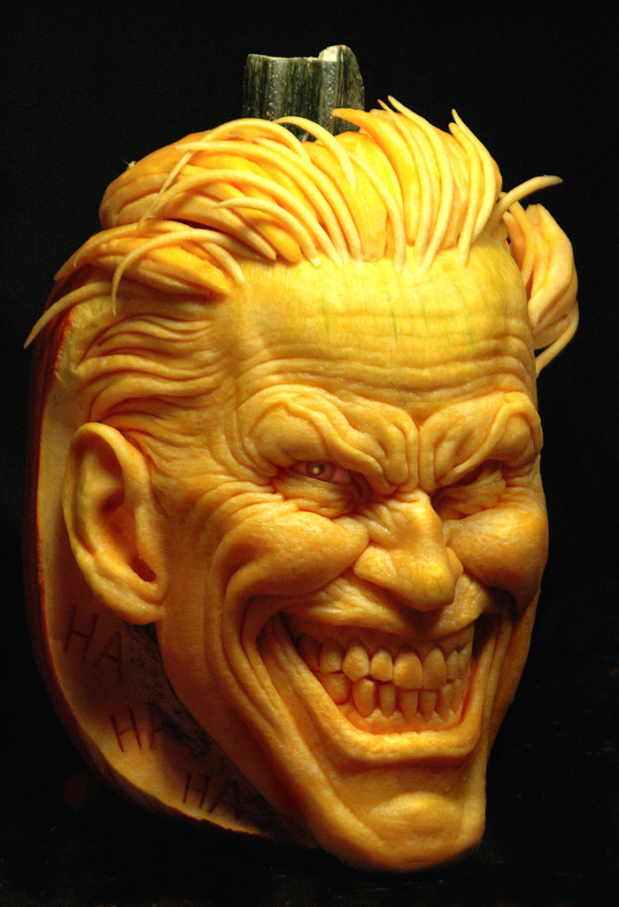 Fashion And Action Joker Amp Two Face Carved Pumpkins The Long Halloween