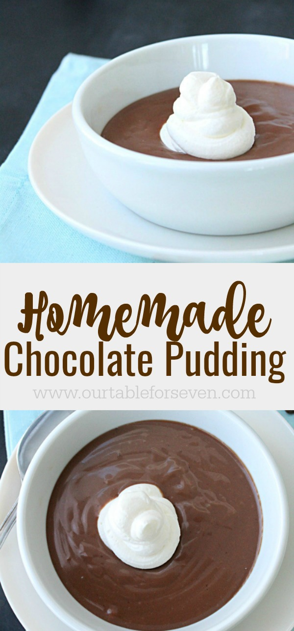 Homemade Chocolate Pudding from Table for Seven
