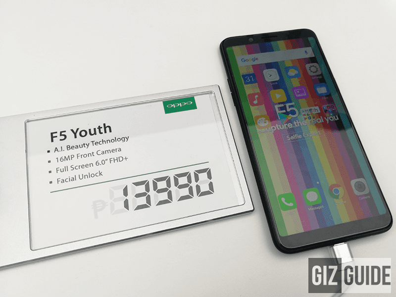 OPPO F5 Youth goes official in the Philippines for PHP 13,990