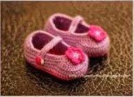 Zapatitos de Bebé Rosa a Crochet