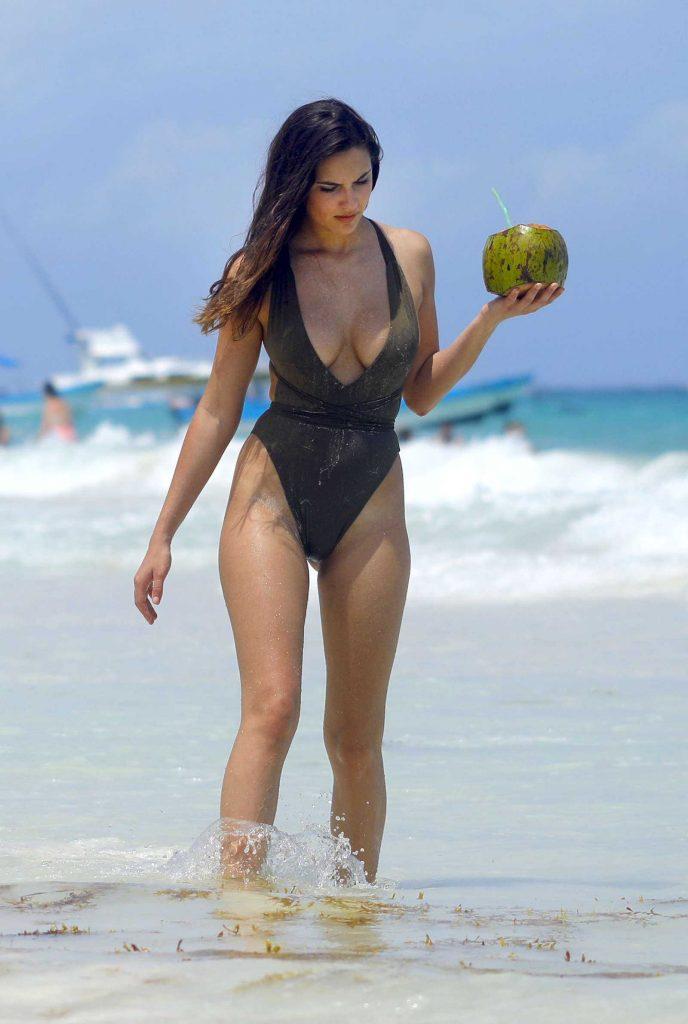 Tao Wickrath in Bikini on the Beach in Mexico